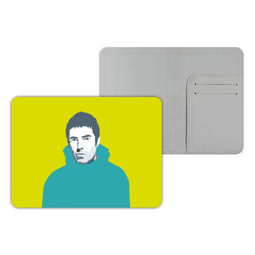 Liam Gallagher Oasis Wonderwall British Music Artist Rocker - designer passport cover by SABI KOZ