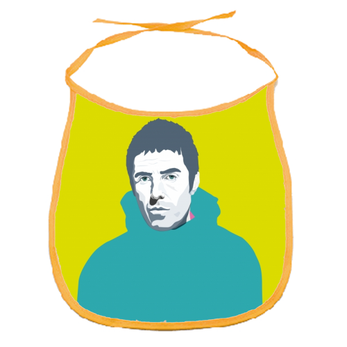 Liam Gallagher Oasis Wonderwall British Music Artist Rocker - funny baby bib by SABI KOZ