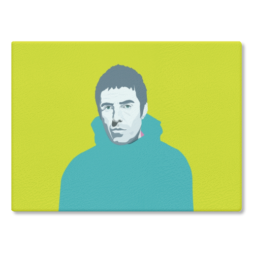 Liam Gallagher Oasis Wonderwall British Music Artist Rocker - glass chopping board by SABI KOZ