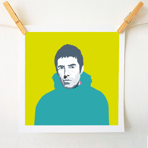 Liam Gallagher Oasis Wonderwall British Music Artist Rocker - original print by SABI KOZ