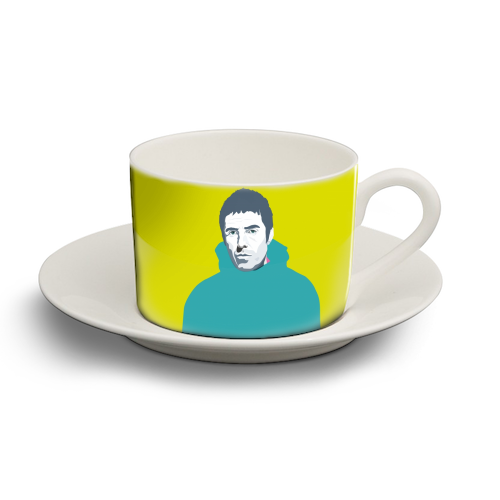 Liam Gallagher Oasis Wonderwall British Music Artist Rocker - personalised cup and saucer by SABI KOZ