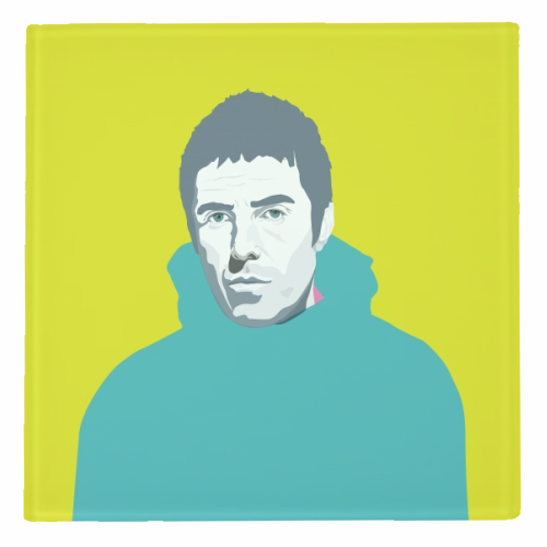Liam Gallagher Oasis Wonderwall British Music Artist Rocker - personalised drink coaster by SABI KOZ