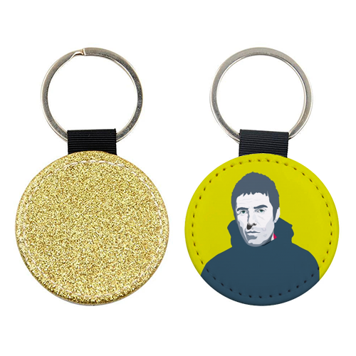 Liam Gallagher Oasis Wonderwall British Music Artist Rocker - personalised picture keyring by SABI KOZ