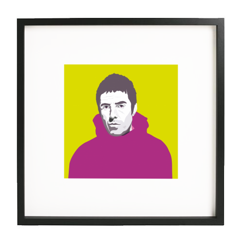 Liam Gallagher Oasis Wonderwall British Music Artist Rocker - printed framed picture by SABI KOZ