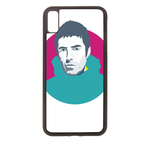 Liam Gallagher Oasis Wonderwall British Music Artist Rocker - Rubber phone case by SABI KOZ