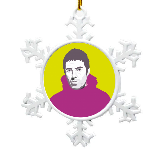 Liam Gallagher Oasis Wonderwall British Music Artist Rocker - snowflake decoration by SABI KOZ