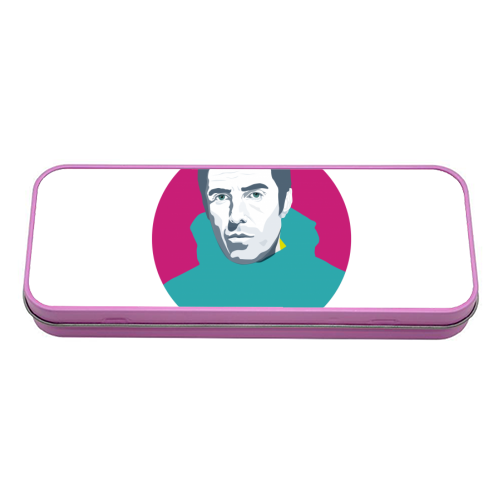Liam Gallagher Oasis Wonderwall British Music Artist Rocker - tin pencil case by SABI KOZ