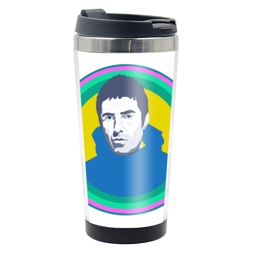 Liam Gallagher Oasis Wonderwall British Music Artist Rocker - travel water bottle by SABI KOZ