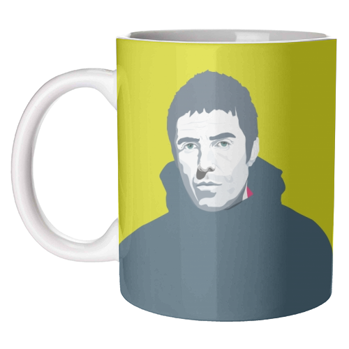 Liam Gallagher Oasis Wonderwall British Music Artist Rocker - unique mug by SABI KOZ
