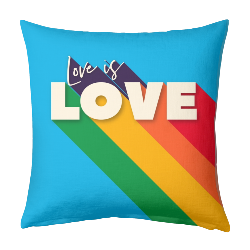 LOVE IS LOVE - designed cushion by Ania Wieclaw