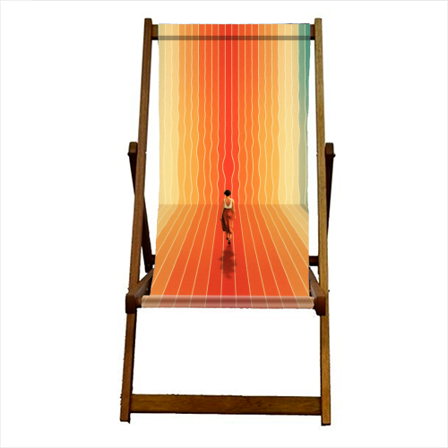 70s Summer Vibes - canvas deck chair by taudalpoi