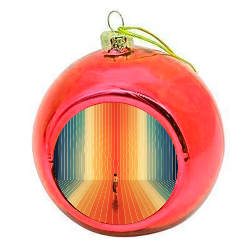 70s Summer Vibes - colourful christmas bauble by taudalpoi