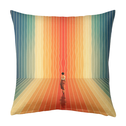 70s Summer Vibes - designed cushion by taudalpoi