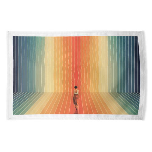 70s Summer Vibes - funny tea towel by taudalpoi