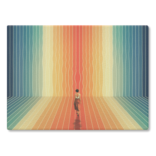 70s Summer Vibes - glass chopping board by taudalpoi