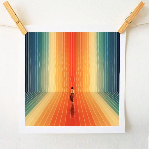 70s Summer Vibes - original print by taudalpoi