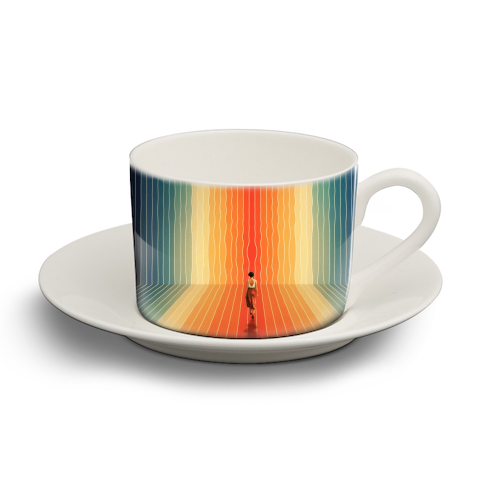 70s Summer Vibes - personalised cup and saucer by taudalpoi
