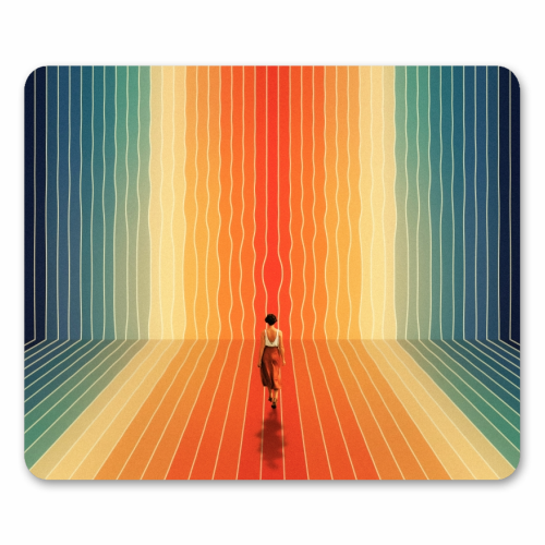 70s Summer Vibes - personalised mouse mat by taudalpoi