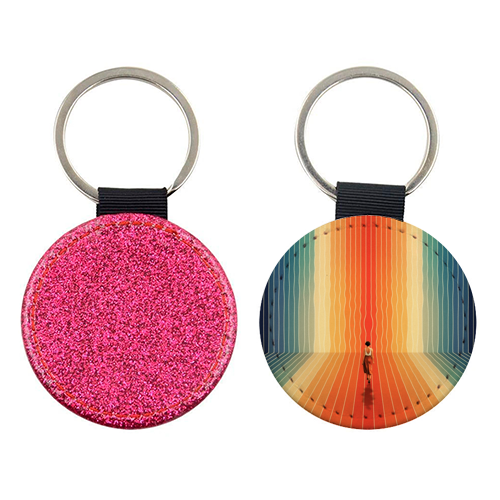 70s Summer Vibes - personalised picture keyring by taudalpoi