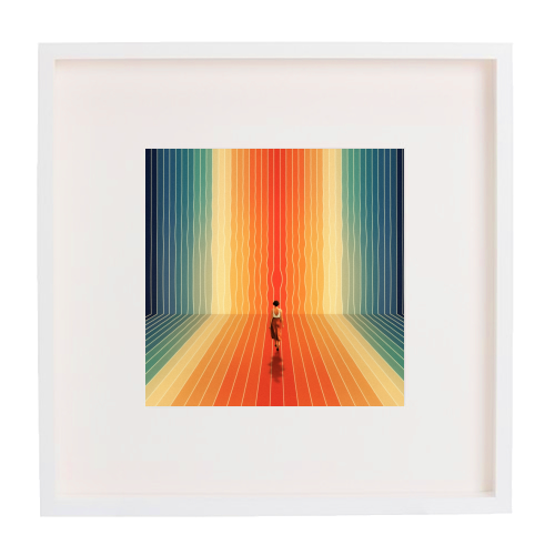 70s Summer Vibes - printed framed picture by taudalpoi