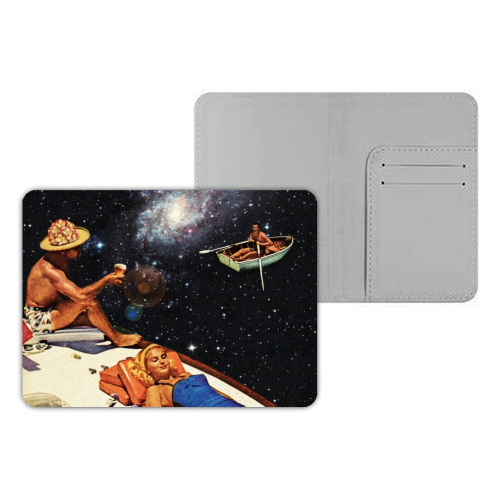 Space Boat Party - designer passport cover by taudalpoi
