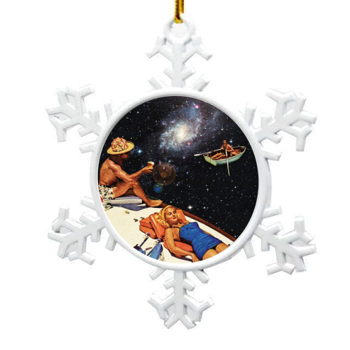 Space Boat Party - snowflake decoration by taudalpoi