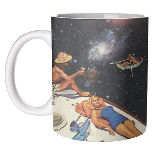 Space Boat Party - unique mug by taudalpoi