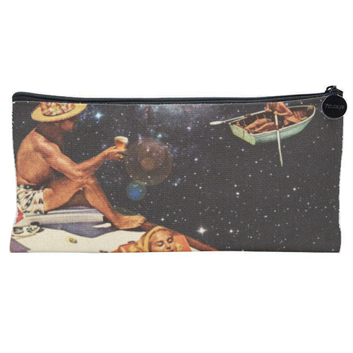 Space Boat Party - unique pencil case by taudalpoi