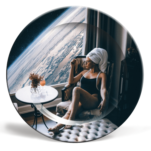 Lady Universe - personalised dinner plate by taudalpoi