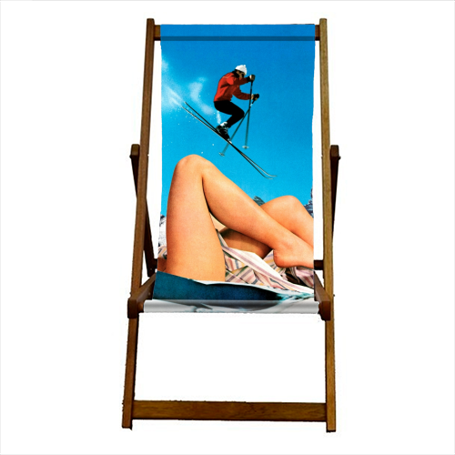 Ski Jump - canvas deck chair by taudalpoi