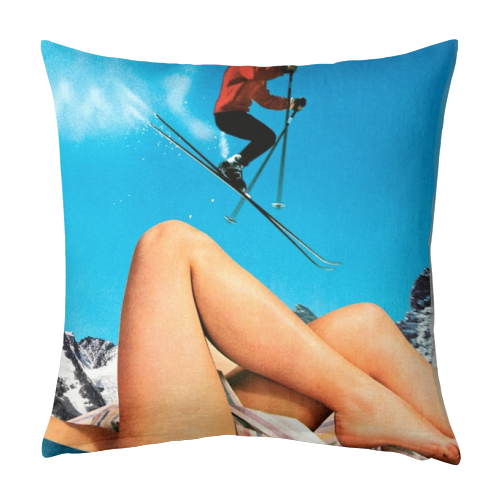 Ski Jump - designed cushion by taudalpoi
