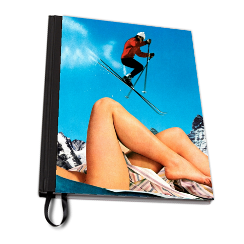 Ski Jump - designed notebook by taudalpoi