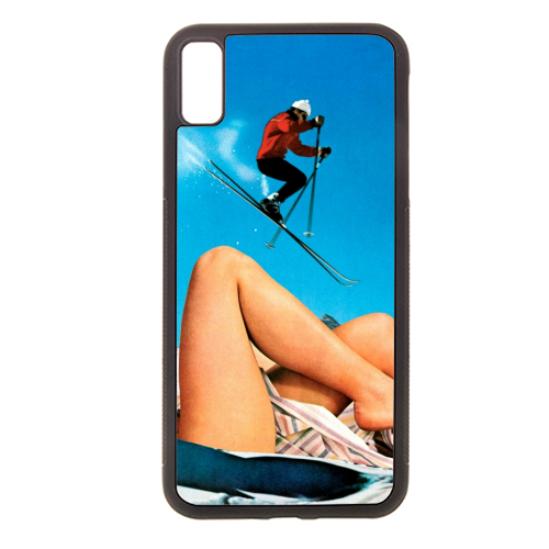 Ski Jump - Rubber phone case by taudalpoi