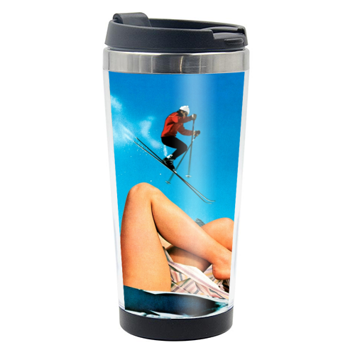 Ski Jump - travel water bottle by taudalpoi