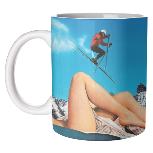 Ski Jump - unique mug by taudalpoi