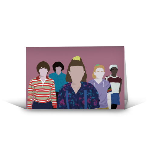 Stranger things - funny greeting card by Cheryl Boland