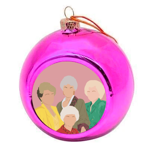 The Golden Girls - colourful christmas bauble by Cheryl Boland