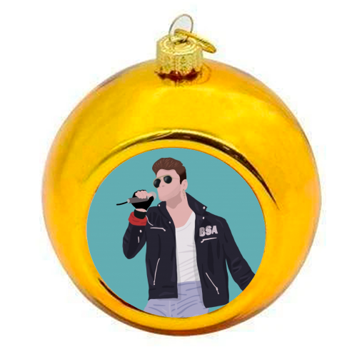 George Michael - colourful christmas bauble by Cheryl Boland