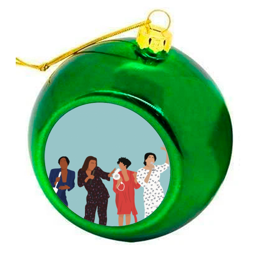 Living Single - colourful christmas bauble by Cheryl Boland