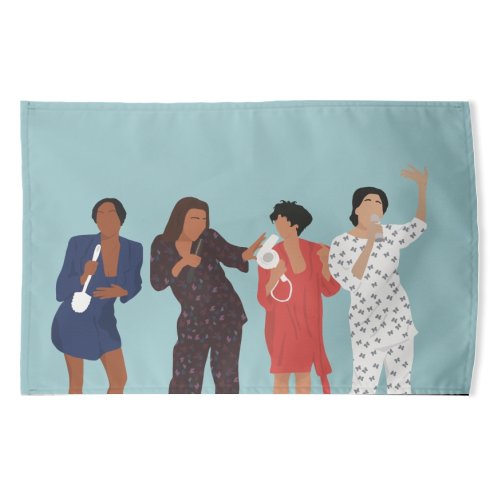 Living Single - funny tea towel by Cheryl Boland