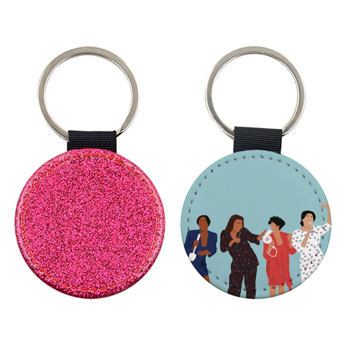 Living Single - personalised leather keyring by Cheryl Boland