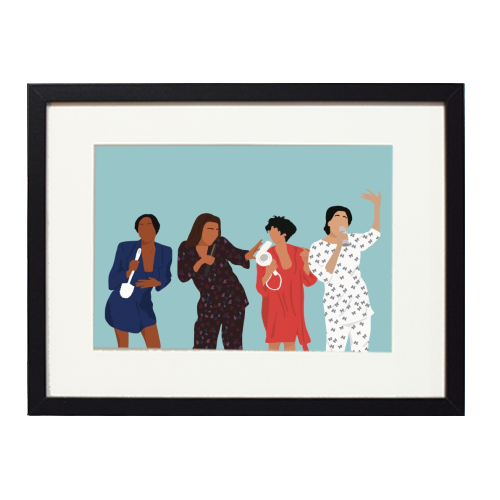 Living Single - printed framed picture by Cheryl Boland