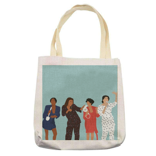 Living Single - printed tote bag by Cheryl Boland