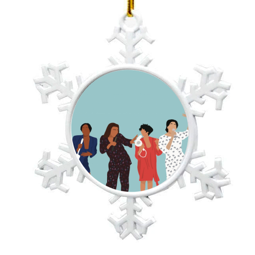 Living Single - snowflake decoration by Cheryl Boland