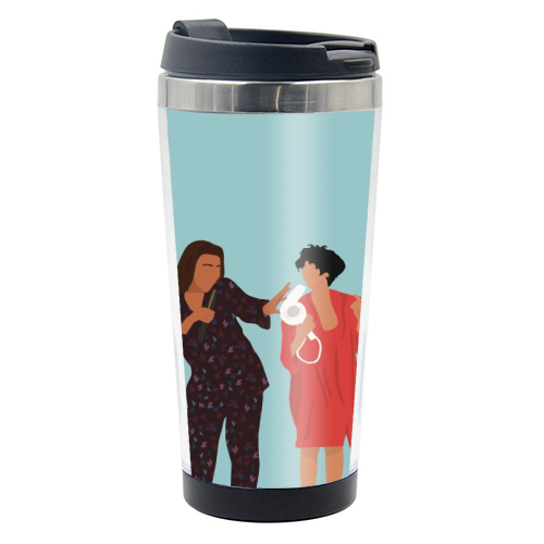 Living Single - travel water bottle by Cheryl Boland