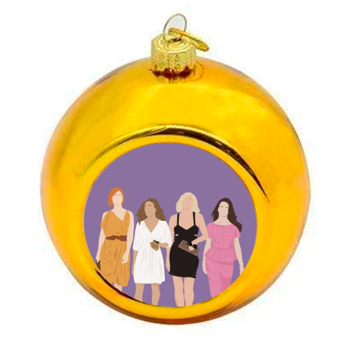 Sex and the city - colourful christmas bauble by Cheryl Boland