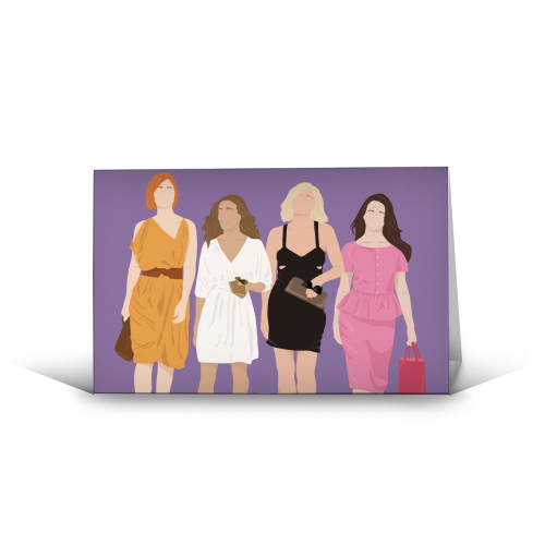 Sex and the city - funny greeting card by Cheryl Boland