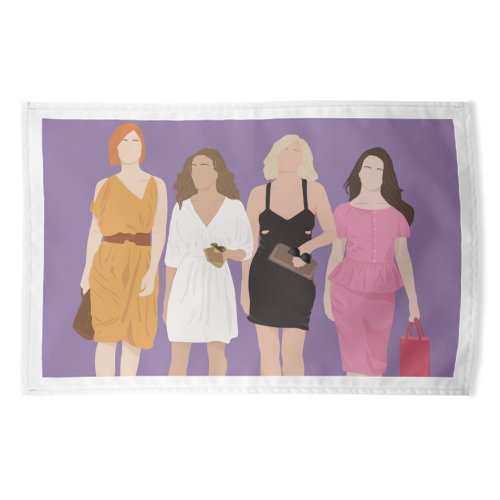 Sex and the city - funny tea towel by Cheryl Boland