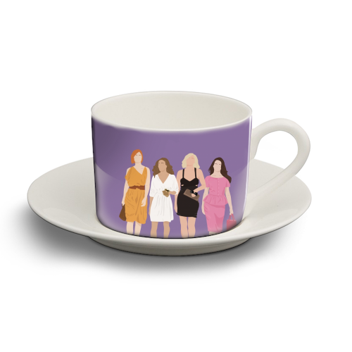 Sex and the city - personalised cup and saucer by Cheryl Boland