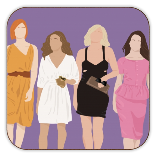 Sex and the city - personalised drink coaster by Cheryl Boland